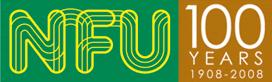 NFU 100 years logo